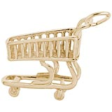 Gold Plated Shopping Cart Charm by Rembrandt Charms