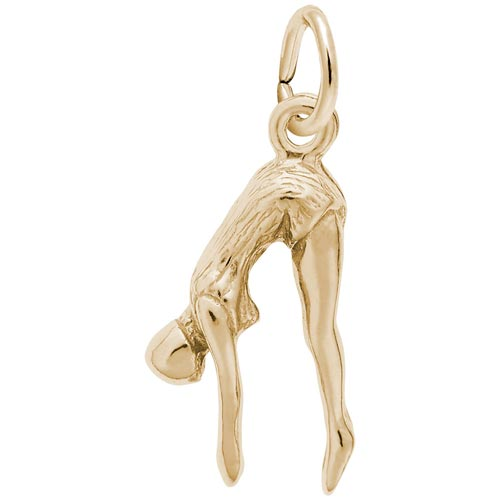 Gold Plated Female Diver Charm by Rembrandt Charms
