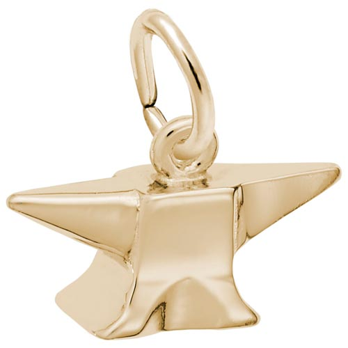 14K Gold Anvil Charm by Rembrandt Charms