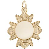 10K Gold Fire Department Badge by Rembrandt Charms