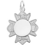 Sterling Silver Fire Department Badge by Rembrandt Charms