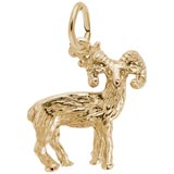Gold Plated Big Horn Sheep Charm by Rembrandt Charms
