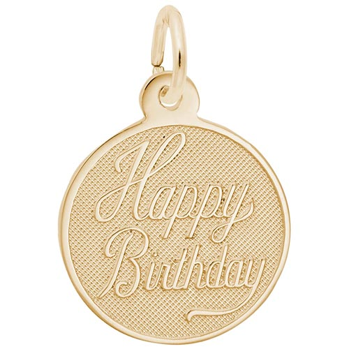 14K Gold Happy Birthday Charm by Rembrandt Charms