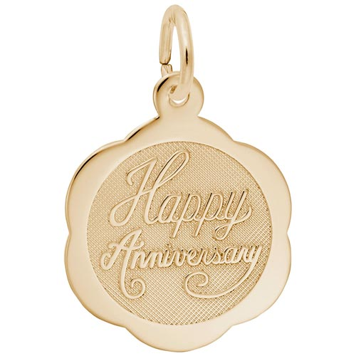 Gold Plated Anniversary Charm by Rembrandt Charms