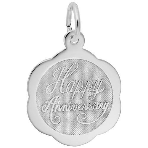 Sterling Silver Anniversary Charm by Rembrandt Charms