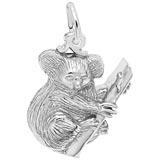 14K White Gold Koala Bear Gold Charm by Rembrandt Charms