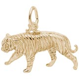 Gold Plated Tiger Charm by Rembrandt Charms
