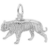 14k White Gold Tiger Charm by Rembrandt Charms