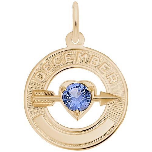 14k Gold 12 Dec Month of Love Charm by Rembrandt Charms