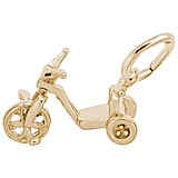 Gold Plated Tricycle Charm by Rembrandt Charms