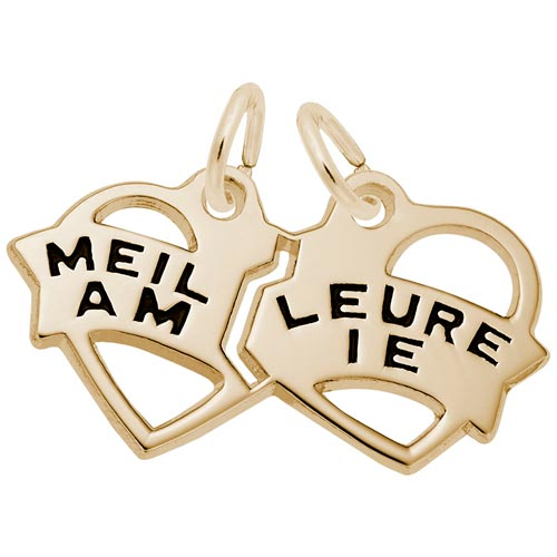 14K Gold Best Meilleure Amie Heart Charm by Rembrandt Charms