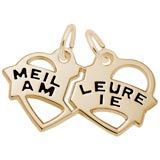 10K Gold Meilleure Amie Heart Charm by Rembrandt Charms