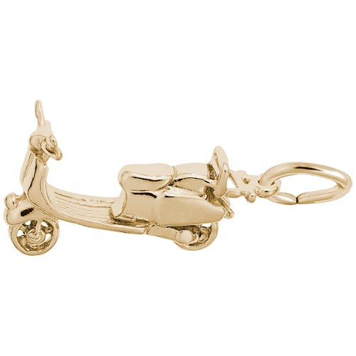 10K Gold Moped Scooter Charm by Rembrandt Charms