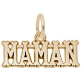 Gold Plated Maman, Mom Charm by Rembrandt Charms