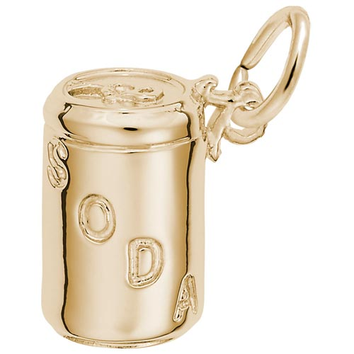 14K Gold Soda Can Charm by Rembrandt Charms