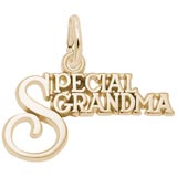 Gold Plate Special Grandma Charm by Rembrandt Charms