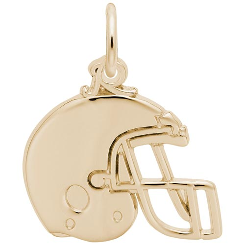 14k Gold Football Helmet Charm by Rembrandt Charms