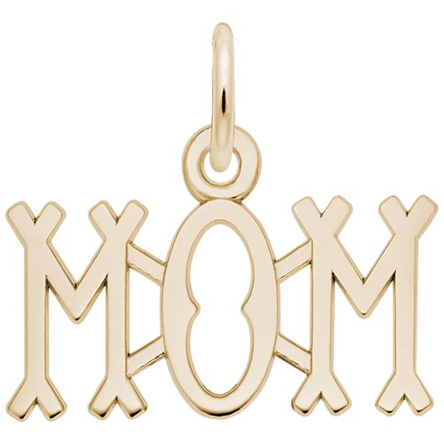14K Gold Mom Charm by Rembrandt Charms