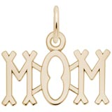Gold Plated Mom Charm by Rembrandt Charms