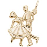 Gold Plate Dancing Couple Charm by Rembrandt Charms