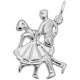 14K White Gold Dancing Couple Charm by Rembrandt Charms