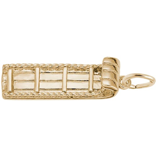 10K Gold Toboggan Charm by Rembrandt Charms