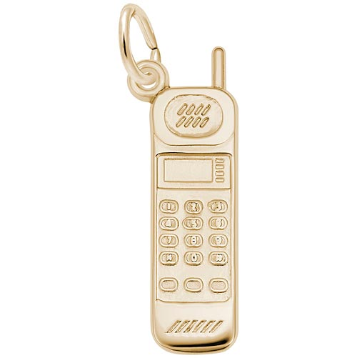 14K Gold Cell Phone Charm by Rembrandt Charms