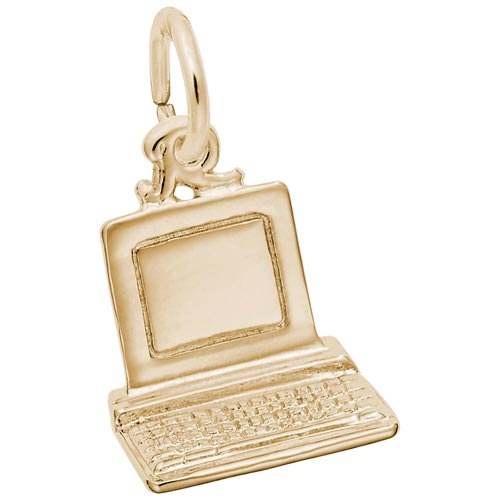 14K Gold Computer Charm by Rembrandt Charms