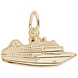 14K Gold Flat Cruise Ship Charm by Rembrandt Charms