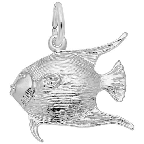 14K White Gold Angelfish Charm by Rembrandt Charms