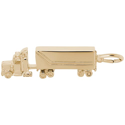 10K Gold Semi Truck Charm by Rembrandt Charms