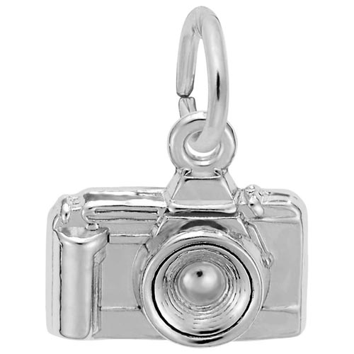 14K White Gold Camera Charm by Rembrandt Charms