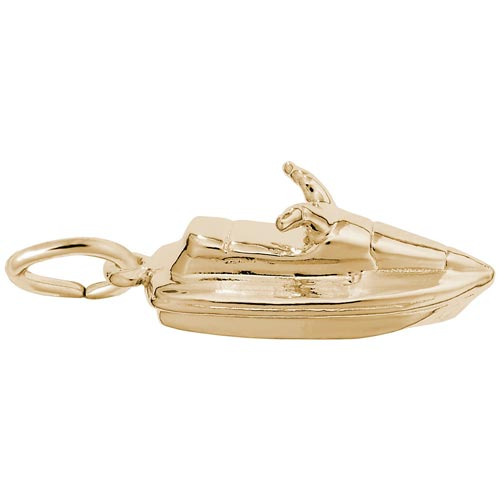 Gold Plate Jet Ski Charm by Rembrandt Charms