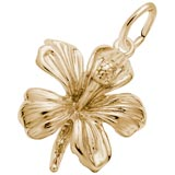 Gold Plate Hibiscus Flower Charm by Rembrandt Charms