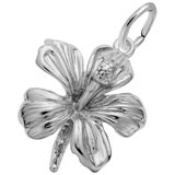 14K White Gold Hibiscus Flower Charm by Rembrandt Charms