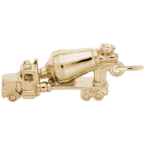 Gold Plated Cement Truck Charm by Rembrandt Charms