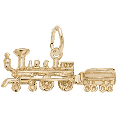 Gold Plated Train Charm by Rembrandt Charms
