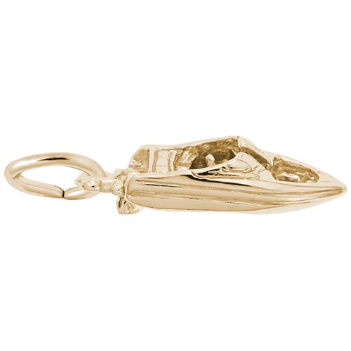 Gold Plate Speedboat Charm by Rembrandt Charms