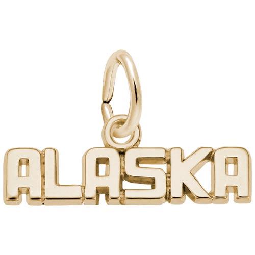 10K Gold Alaska Charm by Rembrandt Charms
