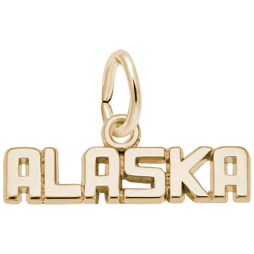 Gold Plate Alaska Charm by Rembrandt Charms
