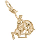 Rembrandt Horse and Cowboy Charm, Gold Plate