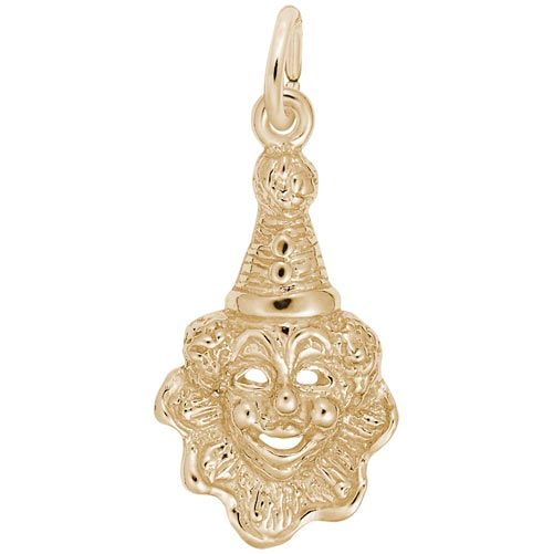 14K Gold Clown Charm by Rembrandt Charms