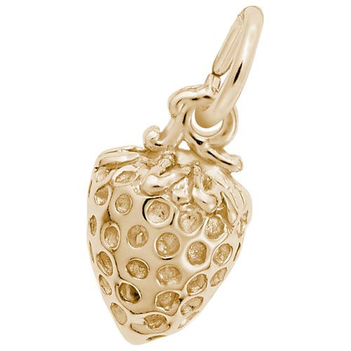 14K Gold Strawberry Charm by Rembrandt Charms