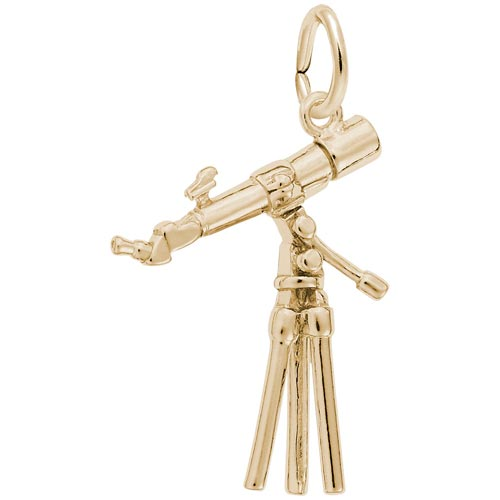 14K Gold Telescope Charm by Rembrandt Charms