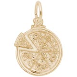 10K Gold Pizza Pie Charm by Rembrandt Charms