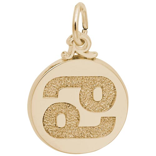 Gold Plated Cancer Zodiac Charm by Rembrandt Charms