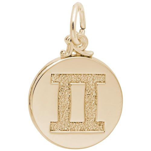 10K Gold Gemini Zodiac Charm by Rembrandt Charms