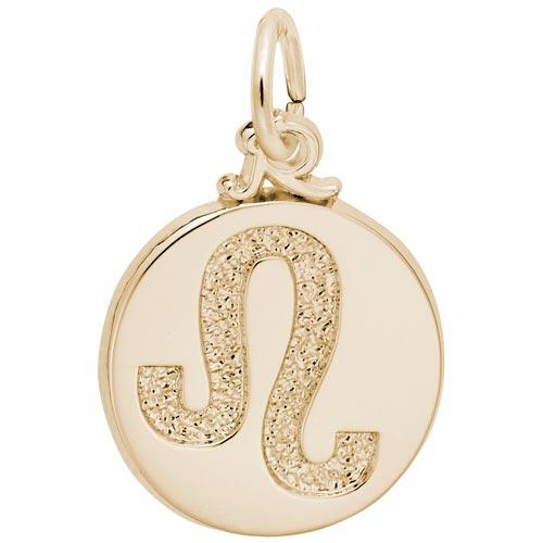 10K Gold Leo Zodiac Charm by Rembrandt Charms