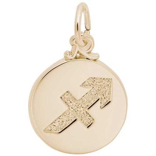 Gold Plated Sagittarius Zodiac Charm by Rembrandt Charms