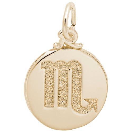 14K Gold Scorpio Zodiac Charm by Rembrandt Charms